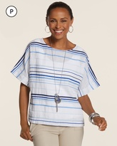 Chico's Summer Stripe Cana II Top