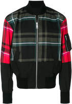 Versus plaid bomber jacket