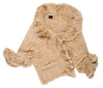 Yves Salomon Fur Knit Shawl