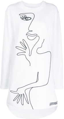 Moschino Portrait Sweatshirt Dress