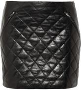 Diane von Furstenberg Daria quilted leather mini skirt