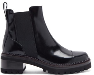See by Chloe Luxor Chunky-sole Leather Chelsea Boots - Black