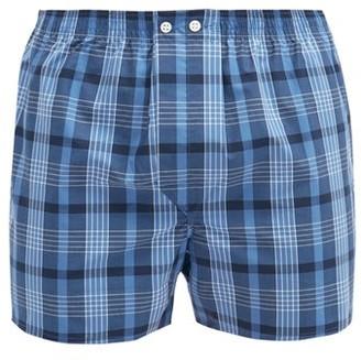 Derek Rose Nelson Checked Cotton-poplin Boxer Shorts - Blue Multi