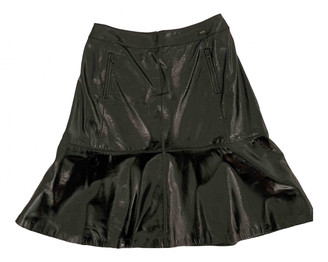 Chanel Black Patent leather Skirts