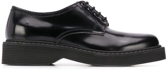 Marni Lace-Up Low-Heel Derby Shoes