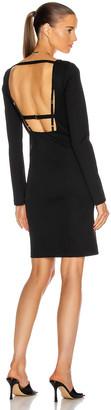 Helmut Lang Square Neck Rib Dress in Black | FWRD