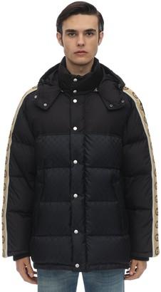 Gucci Hooded Nylon Down Jacket W/Logo