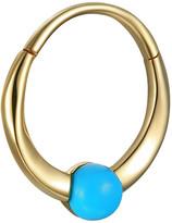 Pamela Love 11mm Floating Turquoise Clicker Single Hoop Earring - Yellow Gold