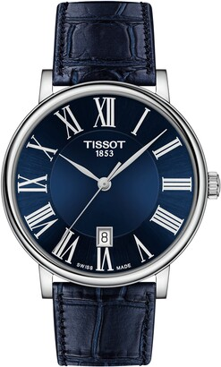 Tissot T-Classic Carson Leather Strap Watch, 40mm