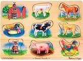 Melissa & Doug Farm Animal Peg Puzzle