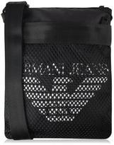 Armani Jeans Logo Mesh Messenger Bag