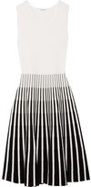 Tomas Maier Striped Intarsia Knitted Dress - White