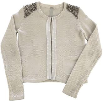 Pinko Ecru Cotton Trench Coat for Women
