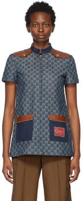 Gucci Blue Denim GG Jacket