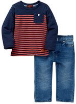 7 For All Mankind Long Sleeve Tee & Jean 2-Piece Set (Baby Boys)