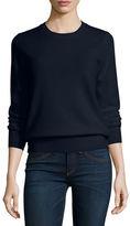 Neiman Marcus Long-Sleeve Crewneck Cashmere Sweater