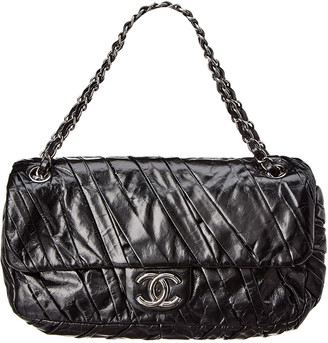 Chanel Black Lambskin Leather Medium Twisted Flap Bag
