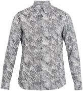 Prada Abstract-print single-cuff cotton shirt