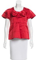 Marc Jacobs Bow-Accented Satin Top