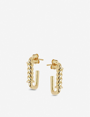 Missoma Reel Ovate mini 18ct yellow gold-vermeil hoop earrings