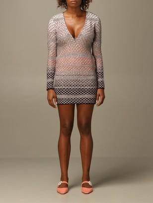 Missoni Dress Dress In Mesh Lurex Wool Knit