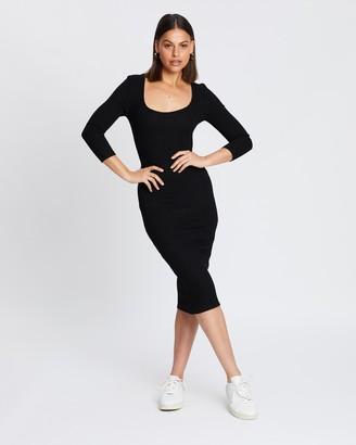 Atmos & Here Charli Midi Jersey Dress
