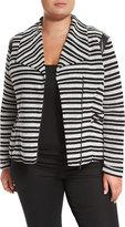 Tart Frankie Striped Jacket, Black/White, Plus Size