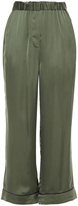 American Vintage Cropped Cupro-satin Wide-leg Pants