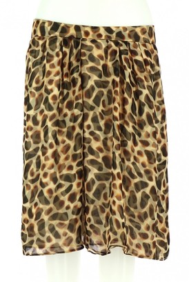 Saint Laurent Camel Silk Skirt for Women