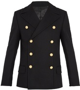 Balmain Double-breasted wool pea coat