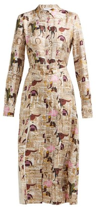 Gabriela Hearst Jane Equestrian-print Silk-twill Shirtdress - Multi