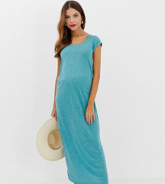 Mama Licious Mamalicious maternity scoop neck midi dress