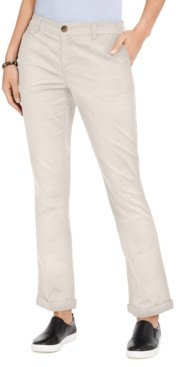 Style&Co. Style & Co Cotton Bootcut Chino Pants, Created For Macy's