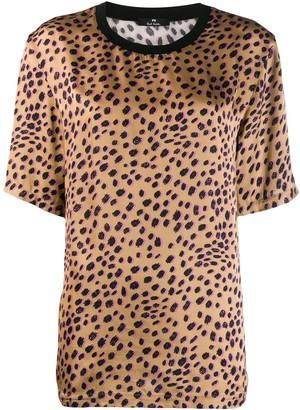 Paul Smith Leopard Print Satin Top