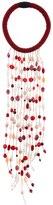 Sharra Pagano Milano Burgundy Long Fringe Necklace For Lvr