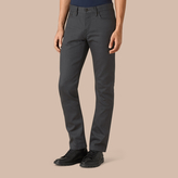 Burberry Straight Fit Japanese Selvedge Denim Jeans