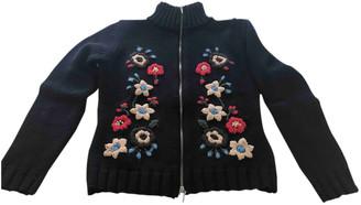 Flavio Castellani Black Wool Knitwear