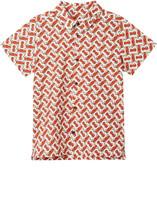 Burberry Desmond Monogram Print Button-Up Shirt