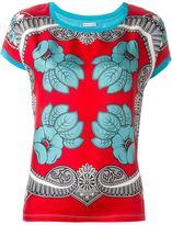 Moncler patterned T-shirt - women - Silk/Cotton - XS