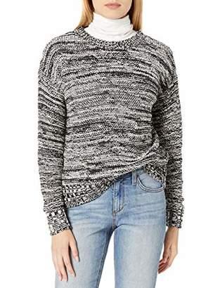 Lucky Brand Women's Crew Neck Reverse Jersey Pullover Sweater