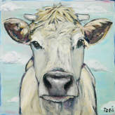 Parvez Taj When Cows Fly Art Print on Canvas