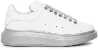 Alexander McQueen White and silver sole classic sneakers