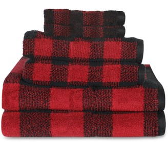 Sonoma Goods For Life 6-pack Holiday Plaid Ultimate Towel with Hygro Technology