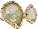 Alexis Bittar Double Faceted Resin & Crystal Ring