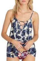 Billabong Women's Illusions Of Floral Print Lace-Up Tank