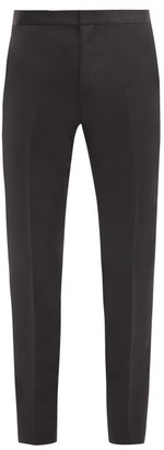 Givenchy Satin-waist Wool-blend Twill Trousers - Black