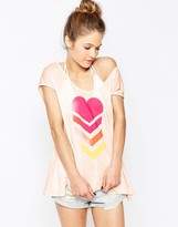Wildfox Couture Neon Brave Beach Top