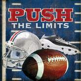 Oopsy Daisy Fine Art For Kids 'Push the Limits - Football' by Lori Siebert Stretched Canvas Art