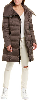 T Tahari Tahari Zipped Long Down Coat
