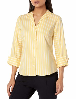 Foxcroft Women's Cisley Petite Stretch Non-Iron Career Stripe Shirt